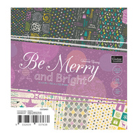 "Couture Creations 6x6"" Paper Pad Be Merry & Bright 24pg"