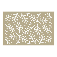 Couture Creations Stencil Be Merry Holly Berry Sprigs