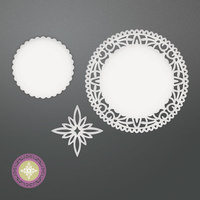 Couture Creations Die Be Merry North Star Doily Set