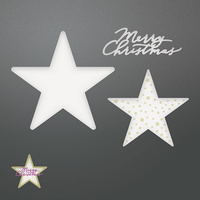 Couture Creations Die Be Merry Merry Layered Stars Set