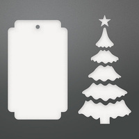 Couture Creations Die Be Merry Christmas Tree Tag Set