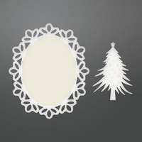 Couture Creations Die Be Merry Framed Christmas Tree Doily Set