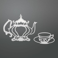 Couture Creations Die Enchanted Tea Party Collection Tea Set 2pc
