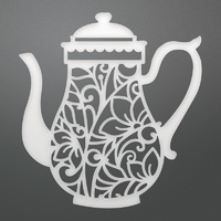 Couture Creations Die Enchanted Tea Party Collection Enchanted Tea Pot
