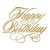 Couture Creations Hotfoil Plate Happy Birthday by Anna Griffin