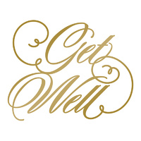 Couture Creations Hotfoil Plate Get Well by Anna Griffin