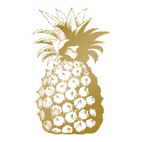 Couture Creations Hotfoil Plate Pineapple by Anna Griffin