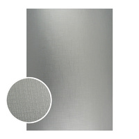 Couture Creations Mirror Foil Board A4 Silver with Draft Lines 10pk