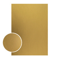 Couture Creations Mirror Foil Board A4 Matte Gold Lines 10pk