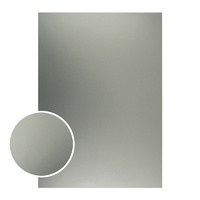 Couture Creations Mirror Foil Board A4 Matte Silver 10pk