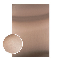 Couture Creations Mirror Foil Board A4 Matte Brown 10pk