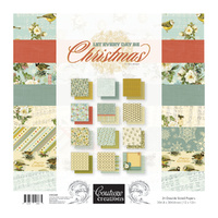 "Couture Creations 12x12"" Paper Pad Let Everyday Be Christmas 24pg"