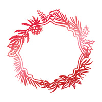 Couture Creations Hot Foil Stamp Let Everyday Be Christmas Wild Wreath