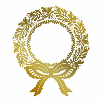 Couture Creations Hot Foil Stamp Christmas Wreath by Anna Griffin