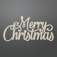 Couture Creations Chipboard Let Everyday Be Christmas Merry Christmas Sentiment