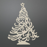 Couture Creations Chipboard Let Everyday Be Christmas Christmas Tree
