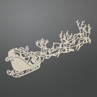 Couture Creations Chipboard Let Everyday Be Christmas Santa's Sleigh