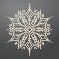 Couture Creations Chipboard Let Everyday Be Christmas Ornate Snowflake