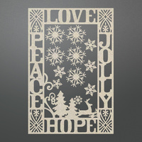 Couture Creations Chipboard Let Everyday Be Christmas Jolly Peace Frame