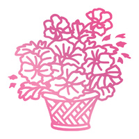 Couture Creations C'est La Vie Hotfoil Stamp Basket of Flowers