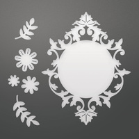 Couture Creations C'est La Vie Decorative Die Set Flowers & Frame 6pc