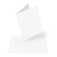 "Couture Creations 5x7"" Card & Envelopes White 50pk"