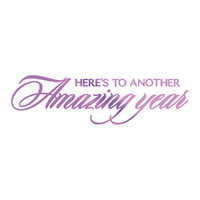 Couture Creations Everyday Sentiments Hotfoil Stamp Amazing Year