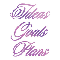 Couture Creations Everyday Sentiments Hotfoil Stamp Ideas, Goals, Plans