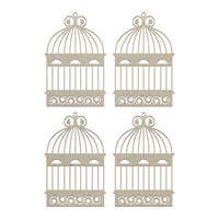 Couture Creations Chipboard Flourished Cages Set 4pc
