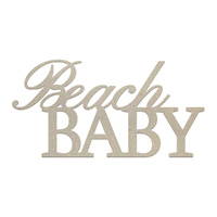 Couture Creations Chipboard Beach Baby 1pc