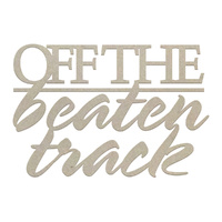 Couture Creations Chipboard Off The Beaten Track 1pc