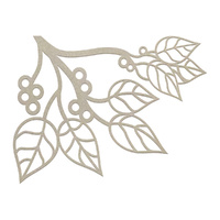 Couture Creations Chipboard Corner Branch 1pc