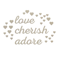 Couture Creations Chipboard Love & Adore Set 30pc