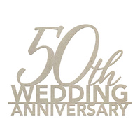 Couture Creations Chipboard 50th Wedding Anniversary