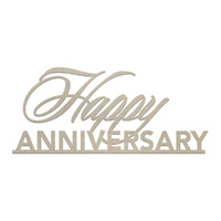 Couture Creations Chipboard Happy Anniversary 1pc