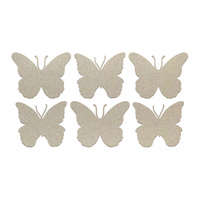 Couture Creations Chipboard Mini Butterflies Set 6pc