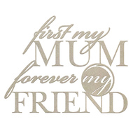 Couture Creations C'est La Vie Chipboard First my Mum Sentiment 1pc