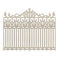 Couture Creations C'est La Vie Chipboard Wrought Iron Gate 2pc