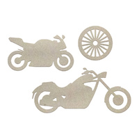 Couture Creations Chipboard Boys Will Be Boys Motorcycles Set 3pc