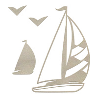 Couture Creations Chipboard Boys Will Be Boys Sailboat Set 4pc