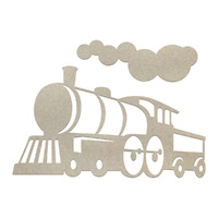 Couture Creations Chipboard Boys Will Be Boys Locomotive Set 3pc