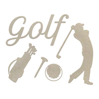 Couture Creations Chipboard Boys Will Be Boys Golf Set 5pc