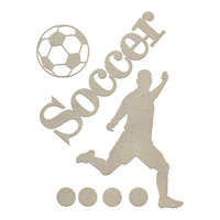 Couture Creations Chipboard Boys Will Be Boys Soccer Set 7pc