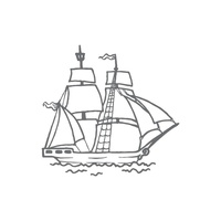 Couture Creations Seaside & Me Mini Stamp Tall Ship