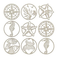 Couture Creations Seaside & Me Chipboard Set Seaside Charms 9pc