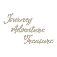 Couture Creations Seaside & Me Chipboard Set Journey, Adventure, Treasure