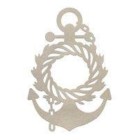 Couture Creations Seaside & Me Chipboard Set Wreathed Anchor