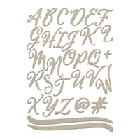 Couture Creations Chipboard Large Uppercase Script Alphas 2pk