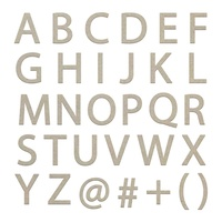 Couture Creations Chipboard Large Uppercase Sans Serif Alphas 2pk