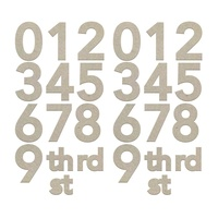 Couture Creations Chipboard Small Numbers 2pk